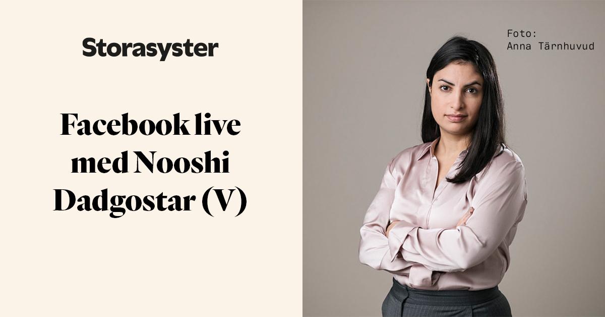 Porträttbild på Nooshi Dadgostar